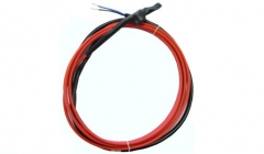 De-frosting heating cord for heat pumps
